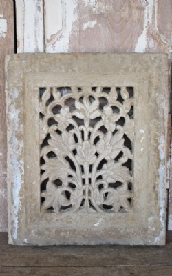 19th Century Sandstone Jali depicting a Tree of Life, Rajasthan <b>SOLD<b>